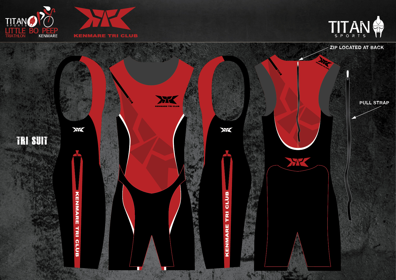 Kenmare Tri Suit (Back Zip)